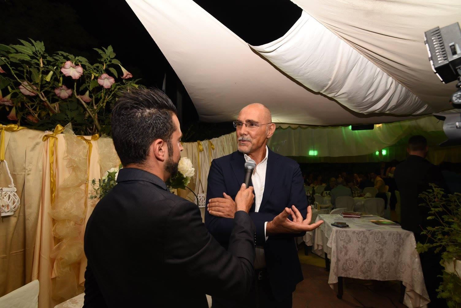 Daniele Falleri intervistato prima dell inizio della serata