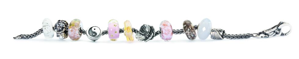 Bracciale componibile in argento_composto con beads in argento e vetro_3