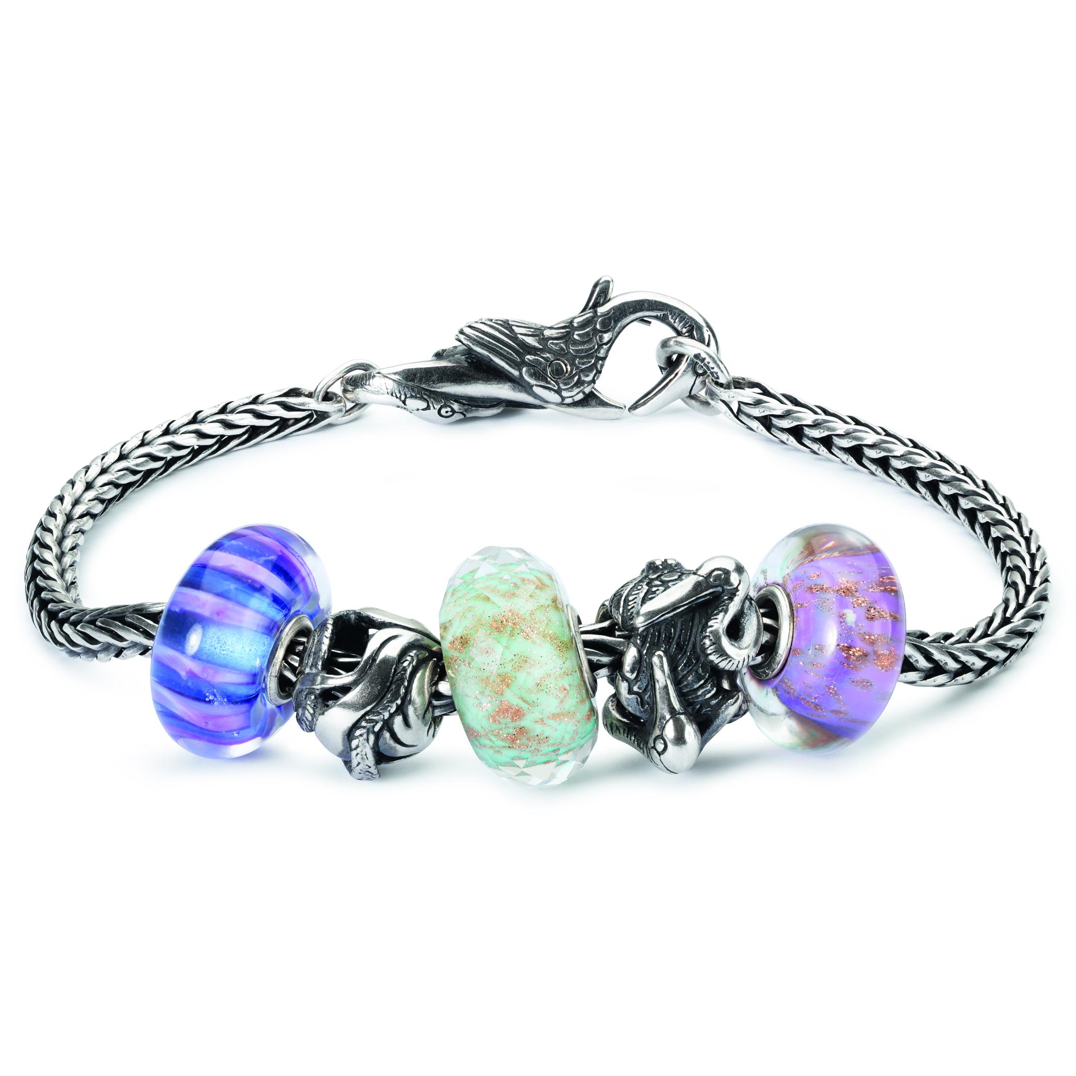 PT_16-01_Bracciale componibile in argento_composto con beads in argento e vetro_1
