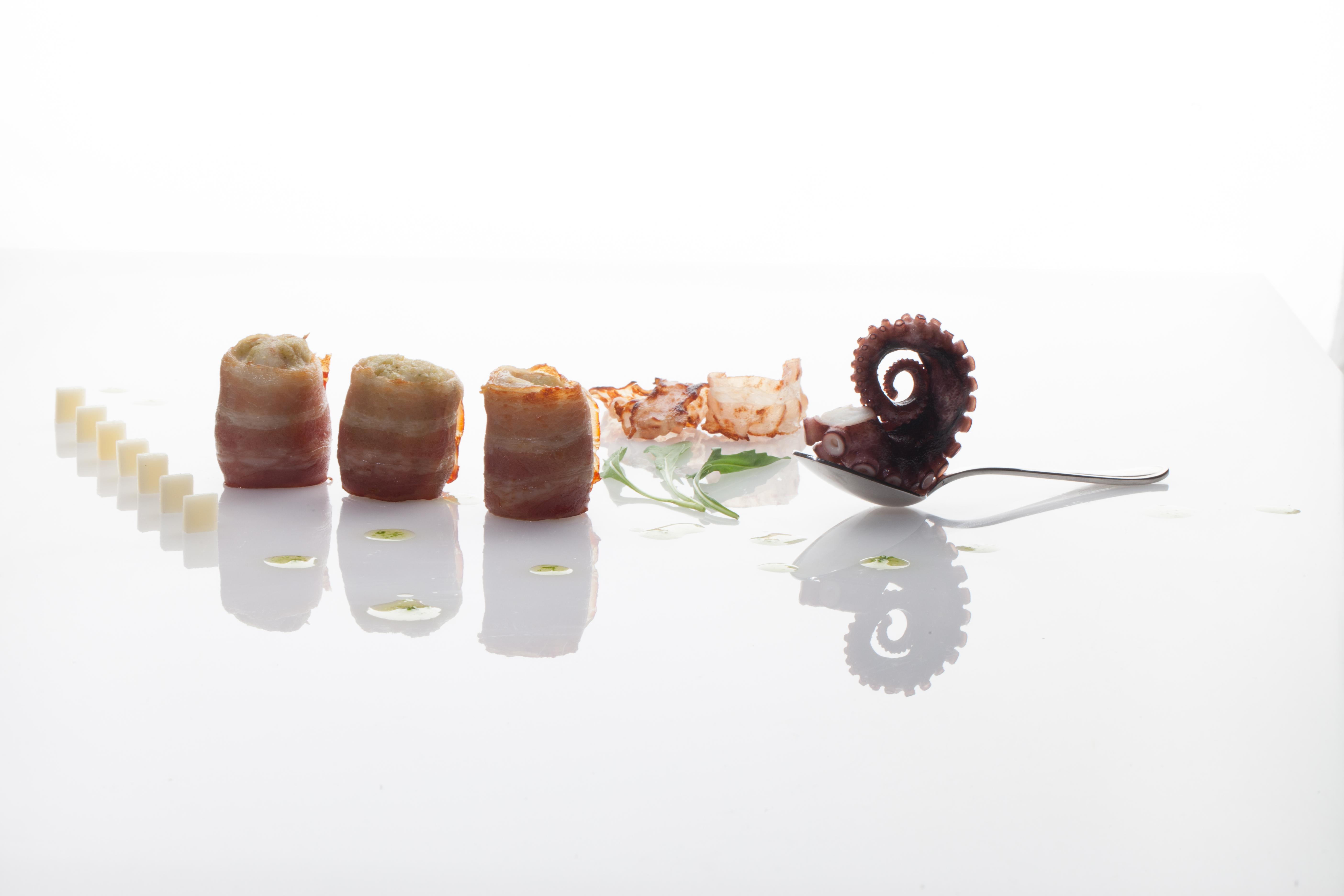 Involtini di Spatola nuda, Bacon Aspromontano e Caciocavallo di Ciminà foto