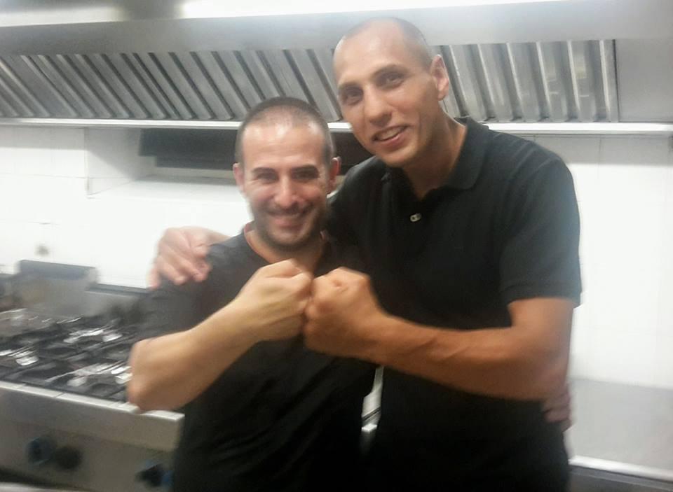 Angelo Puddu con Vigan Mustafà