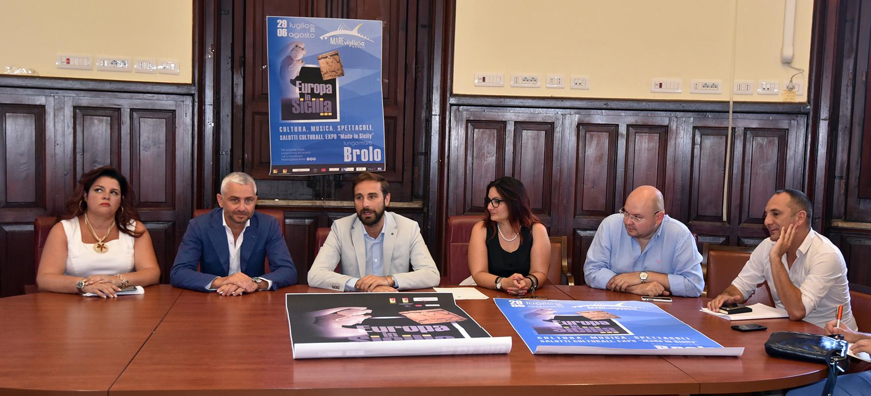 Conferenza Stampa - Emanuela Ricciardi Rizzo, Nino Germanà, Massimiliano Cavaleri, Irene Ricciardello, Fabio Longo e Salvatore Gentile