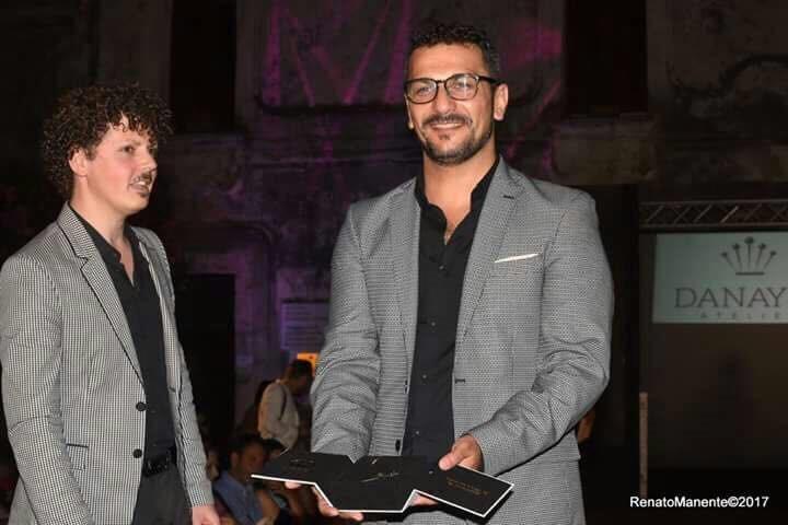 Pasqualino D'Angelo & Daniele Di Palo con il Brand Danayse Atelier S. Antimo (Na) vincitori Ago D'Oro Giuria Partner e Vincitori del Premio Creatività Giuria Tecnica