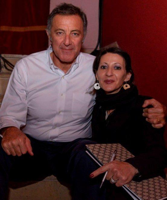 Francesca Esposito con Luca Barbareschi