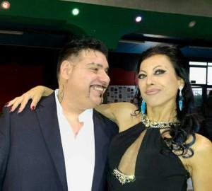 Il regista Mario Cosentino con la compagna l'attrice Emanuela Marini