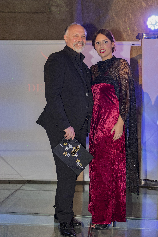 con lo stilista Roberto Guarducci