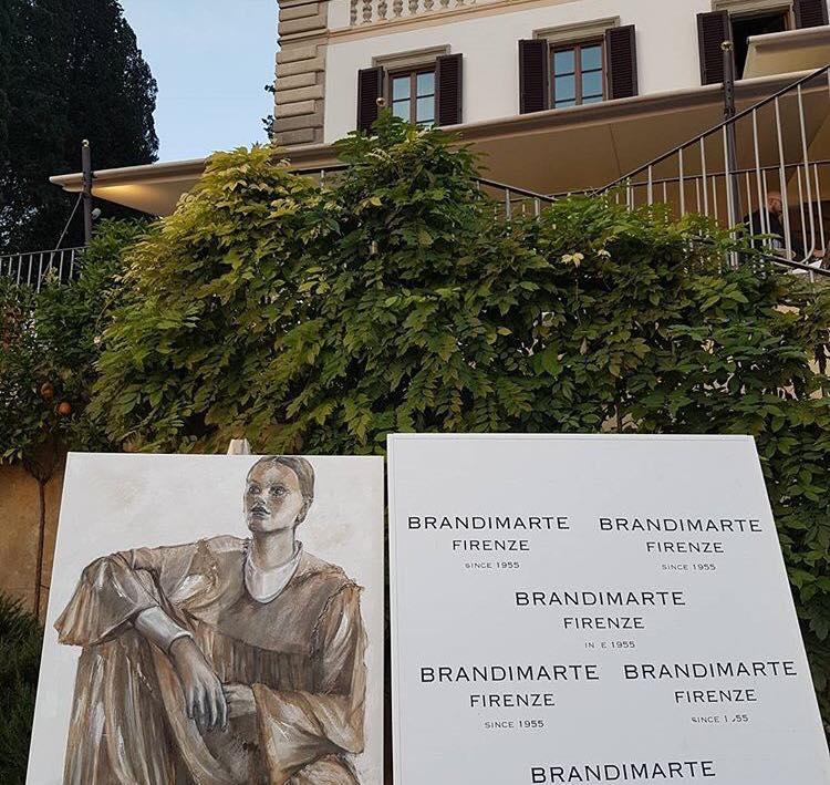 La Donna Silver dipinto con l'aceto di vino da Elisabetta Rogai