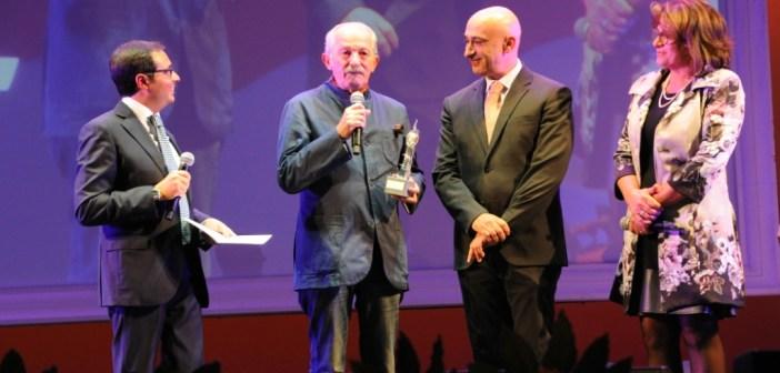 Il Dirigente RAI Francesco Pinto durante la premiazione