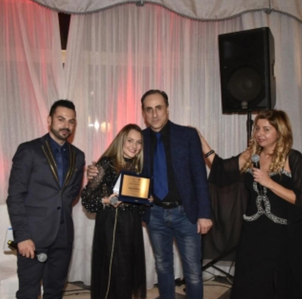 Premiazione Marta Barrano con Antonello De Pierro