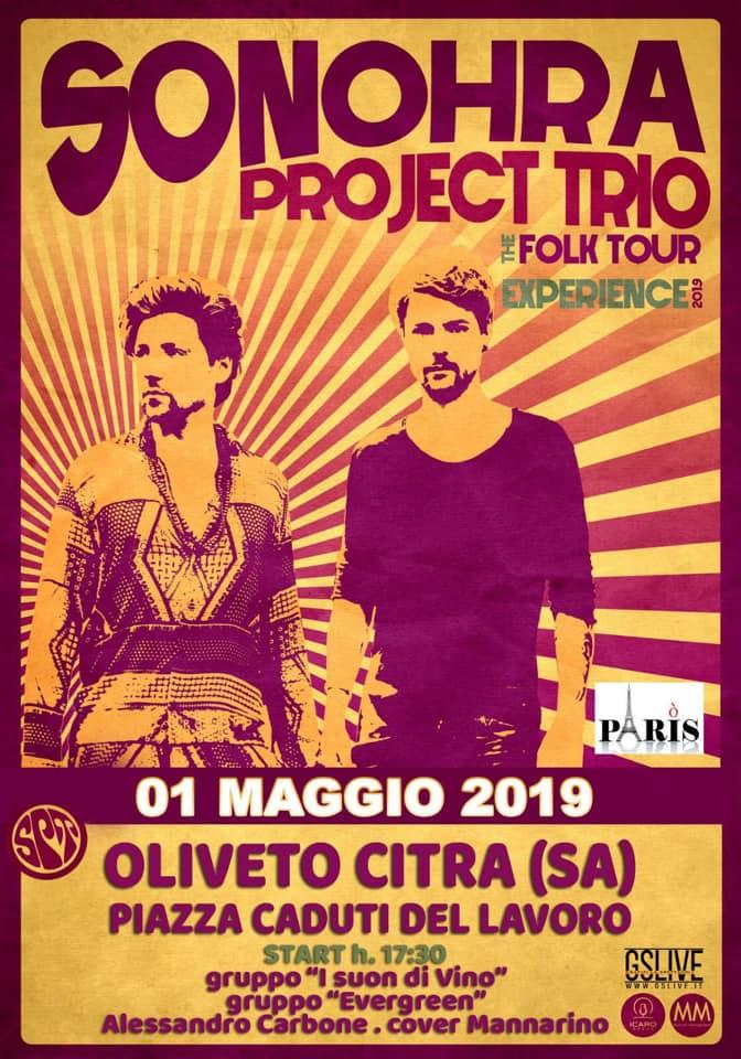 Concerto del Primo Maggio Sonohra Project Trio Un tour all