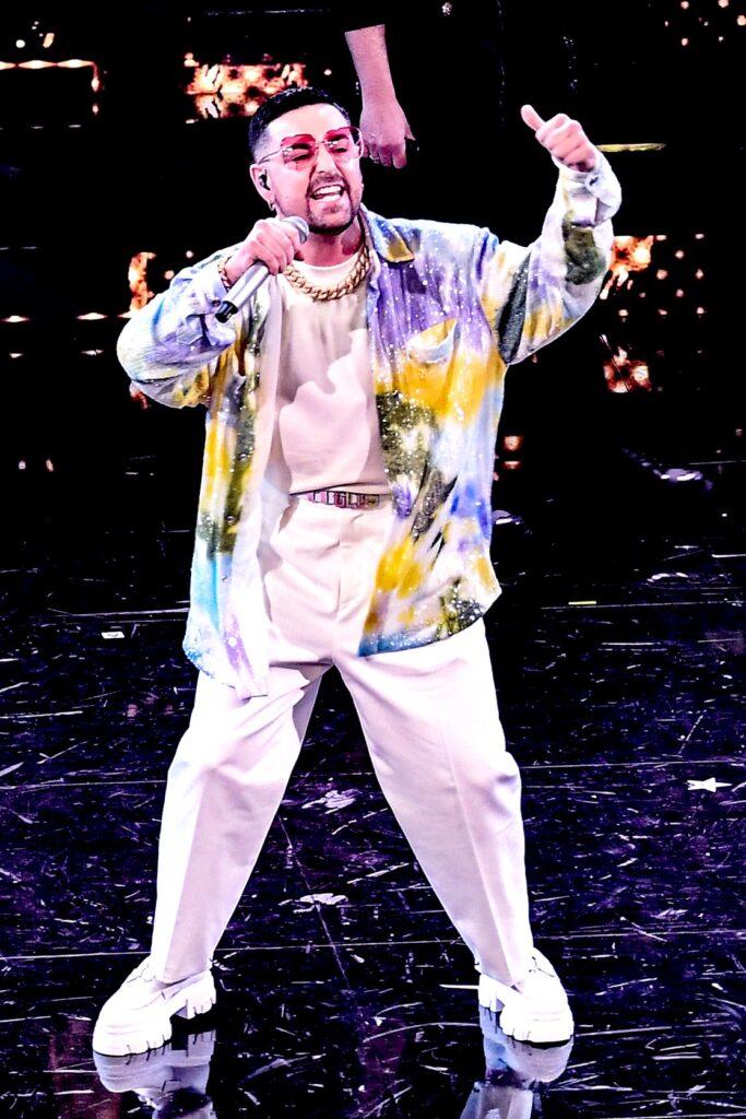 Ivan Granatino sul palco dell'Ariston