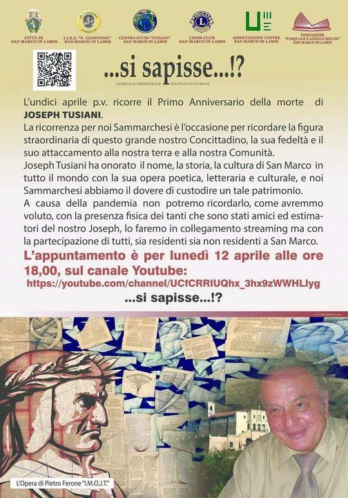 Locandina evento 12 aprile 2021