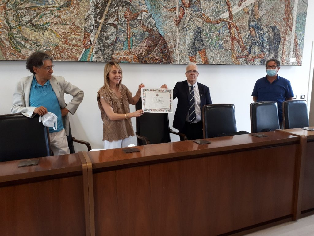 sindaco Antonella Di Nino e Hafez Haidar