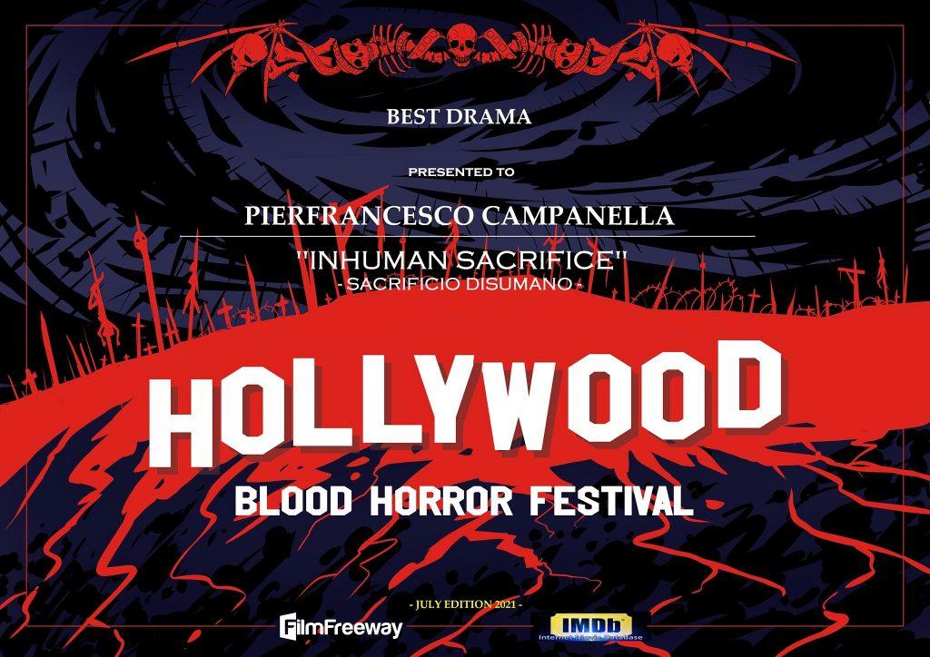 Sacrificio disumano miglior opera drammatica al Festival di Los Angeles